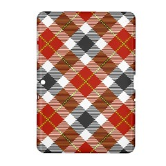 Smart Plaid Warm Colors Samsung Galaxy Tab 2 (10 1 ) P5100 Hardshell Case  by ImpressiveMoments