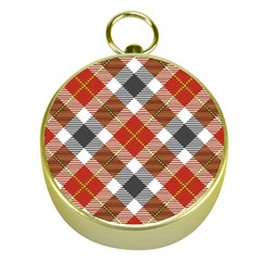 Smart Plaid Warm Colors Gold Compasses by ImpressiveMoments