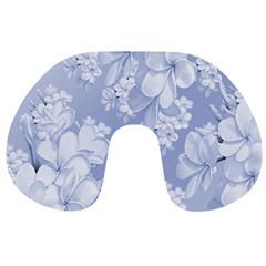 Delicate Floral Pattern,blue  Travel Neck Pillows by MoreColorsinLife