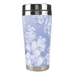 Delicate Floral Pattern,blue  Stainless Steel Travel Tumblers by MoreColorsinLife