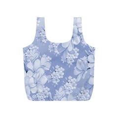 Delicate Floral Pattern,blue  Full Print Recycle Bags (s)  by MoreColorsinLife