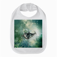Funny Dswimming Dolphin Bib by FantasyWorld7