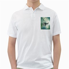Funny Dswimming Dolphin Golf Shirts