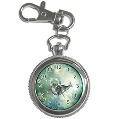 Funny Dswimming Dolphin Key Chain Watches