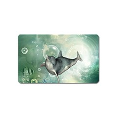 Funny Dswimming Dolphin Magnet (name Card)