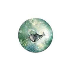 Funny Dswimming Dolphin Golf Ball Marker (4 Pack)