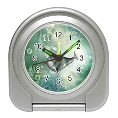 Funny Dswimming Dolphin Travel Alarm Clocks