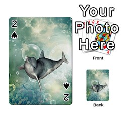 Funny Dswimming Dolphin Playing Cards 54 Designs