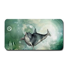 Funny Dswimming Dolphin Medium Bar Mats by FantasyWorld7