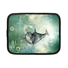 Funny Dswimming Dolphin Netbook Case (small)