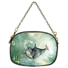 Funny Dswimming Dolphin Chain Purses (two Sides)