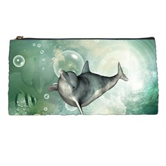Funny Dswimming Dolphin Pencil Cases