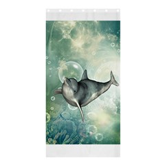 Funny Dswimming Dolphin Shower Curtain 36  X 72  (stall)