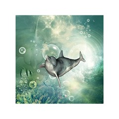 Funny Dswimming Dolphin Shower Curtain 60  X 72  (medium)