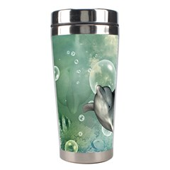 Funny Dswimming Dolphin Stainless Steel Travel Tumblers