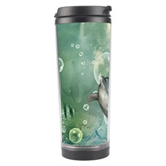 Funny Dswimming Dolphin Travel Tumblers