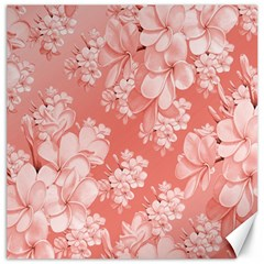 Delicate Floral Pattern,pink  Canvas 20  X 20   by MoreColorsinLife