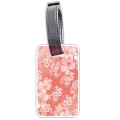 Delicate Floral Pattern,pink  Luggage Tags (one Side)  by MoreColorsinLife