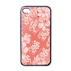 Delicate Floral Pattern,pink  Apple Iphone 4 Case (black) by MoreColorsinLife