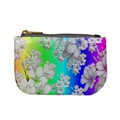 Delicate Floral Pattern,rainbow Mini Coin Purses by MoreColorsinLife