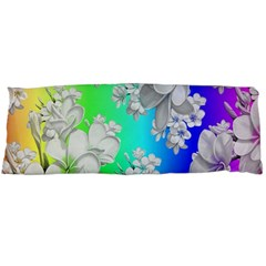 Delicate Floral Pattern,rainbow Body Pillow Cases (dakimakura)  by MoreColorsinLife