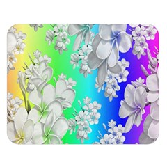 Delicate Floral Pattern,rainbow Double Sided Flano Blanket (large)