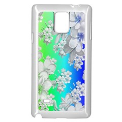 Delicate Floral Pattern,rainbow Samsung Galaxy Note 4 Case (white) by MoreColorsinLife