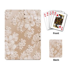 Delicate Floral Pattern,softly Playing Card by MoreColorsinLife
