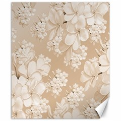 Delicate Floral Pattern,softly Canvas 8  X 10  by MoreColorsinLife