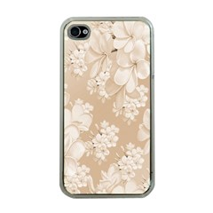 Delicate Floral Pattern,softly Apple Iphone 4 Case (clear) by MoreColorsinLife