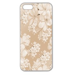 Delicate Floral Pattern,softly Apple Seamless Iphone 5 Case (clear) by MoreColorsinLife