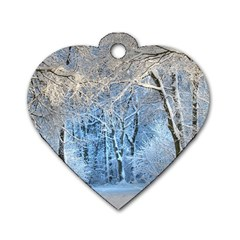 Another Winter Wonderland 1 Dog Tag Heart (two Sides) by MoreColorsinLife