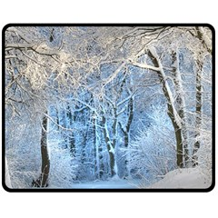 Another Winter Wonderland 1 Double Sided Fleece Blanket (medium)  by MoreColorsinLife