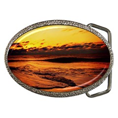 Stunning Sunset On The Beach 2 Belt Buckles by MoreColorsinLife