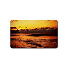 Stunning Sunset On The Beach 2 Magnet (name Card) by MoreColorsinLife