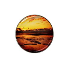 Stunning Sunset On The Beach 2 Hat Clip Ball Marker by MoreColorsinLife