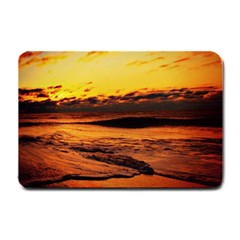 Stunning Sunset On The Beach 2 Small Doormat  by MoreColorsinLife