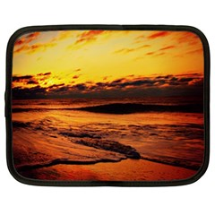 Stunning Sunset On The Beach 2 Netbook Case (large)	 by MoreColorsinLife