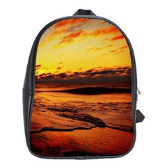 Stunning Sunset On The Beach 2 School Bags(large)  by MoreColorsinLife