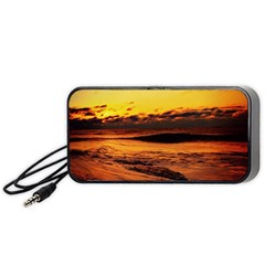Stunning Sunset On The Beach 2 Portable Speaker (black)  by MoreColorsinLife