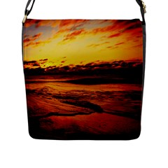 Stunning Sunset On The Beach 2 Flap Messenger Bag (l)  by MoreColorsinLife