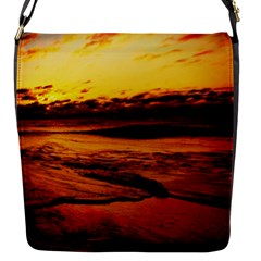 Stunning Sunset On The Beach 2 Flap Messenger Bag (s) by MoreColorsinLife