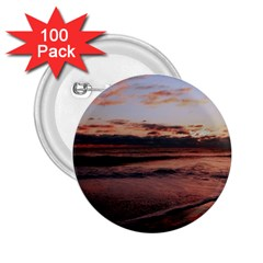 Stunning Sunset On The Beach 3 2 25  Buttons (100 Pack)