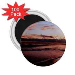 Stunning Sunset On The Beach 3 2 25  Magnets (100 Pack)