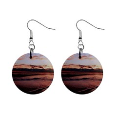 Stunning Sunset On The Beach 3 Mini Button Earrings by MoreColorsinLife