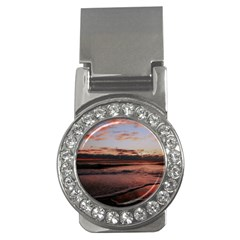 Stunning Sunset On The Beach 3 Money Clips (cz)  by MoreColorsinLife