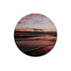 Stunning Sunset On The Beach 3 Magnet 3  (round) by MoreColorsinLife