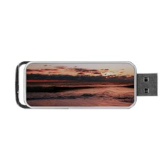 Stunning Sunset On The Beach 3 Portable Usb Flash (one Side) by MoreColorsinLife