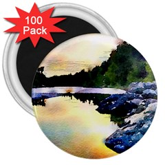 Stunning Nature Evening 3  Magnets (100 Pack) by MoreColorsinLife
