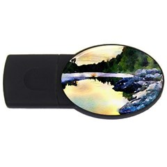 Stunning Nature Evening Usb Flash Drive Oval (4 Gb)  by MoreColorsinLife